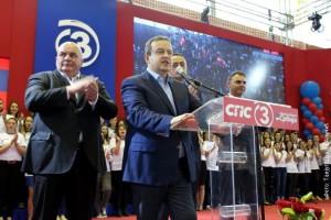 Ivica Dacic con a sinistra Dragan Markovic Palma